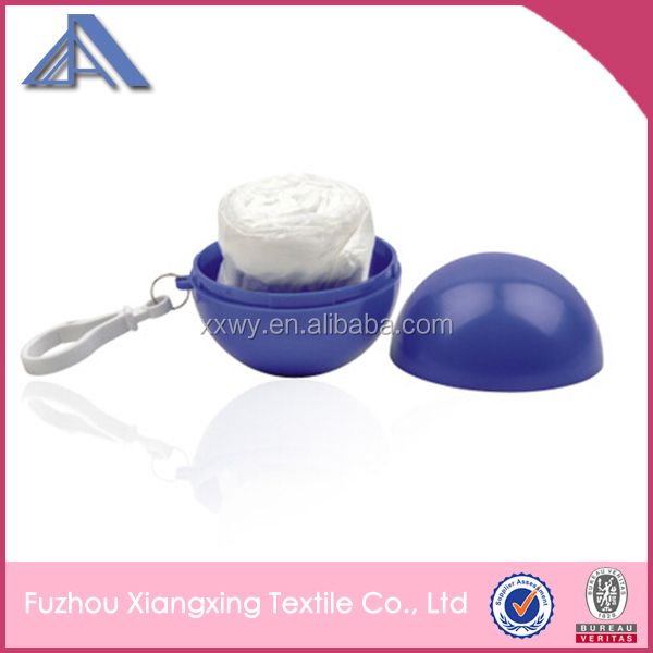 keychain ball with disposable raincoat