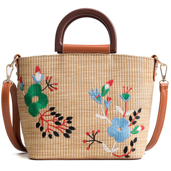 19a79c8fcc64a Hot sale fashion ladies tote handbag wholesale summer beach embroidery  moroccan bali straw bag