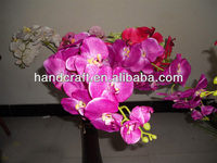 plastic nine heads big orchid flower factory for wedding decor