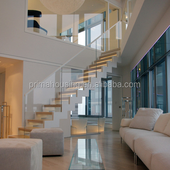 Modular Staircase Residential Steel Wood Stairs Prefab Metal Loft Straight  Staircase
