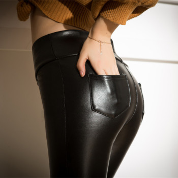 sexy Fashion leather woman pants