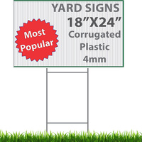 PP corrugated plastic corflute signs