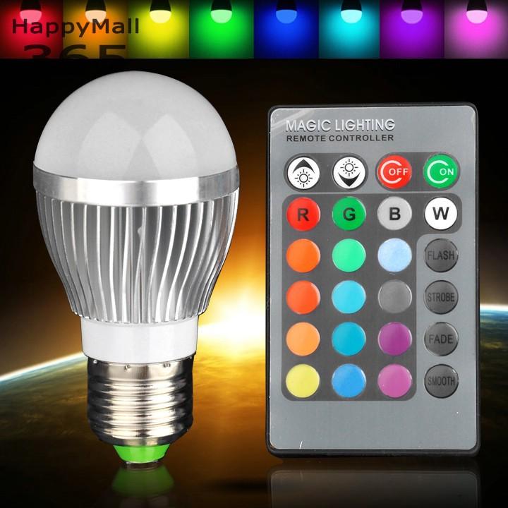 3 w e27 rgb ampoule led 16 changement de couleur lampe ac85 265v projecteurs pour la d coration. Black Bedroom Furniture Sets. Home Design Ideas