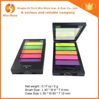 5 g With 1 MINI Sponge Applicator Cheap Rainbow Eye Shadow Palette