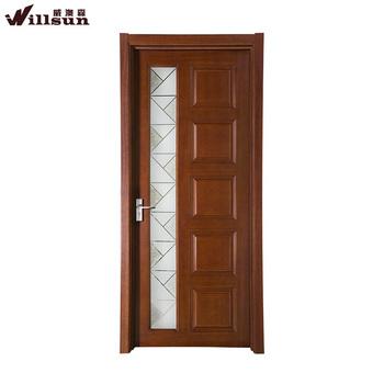 Madera de lujo vidrio esmerilado puertas batientes for Puertas de madera con vidrio para exterior