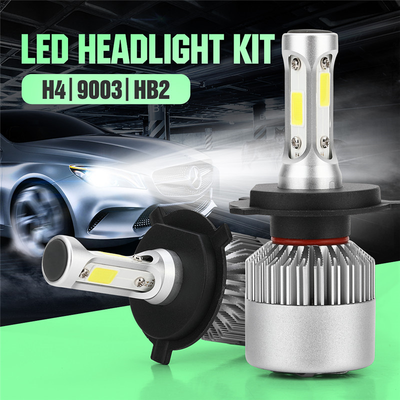Universal high low beam dc 9v to 32v bridgelux cob 8000lm 6000k 80w s2 hb2 9003 h4 led auto headlight
