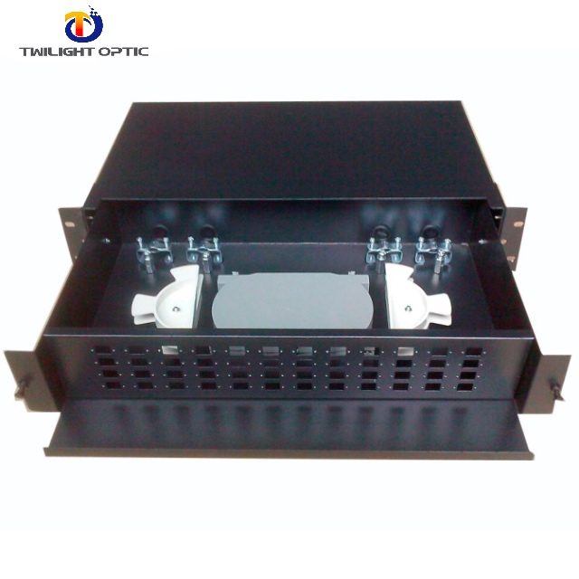 Sliding Drawer Type Fiber Optic Distribution Box ,48 Ports Fiber Optic Splice Patch Panel/ODF