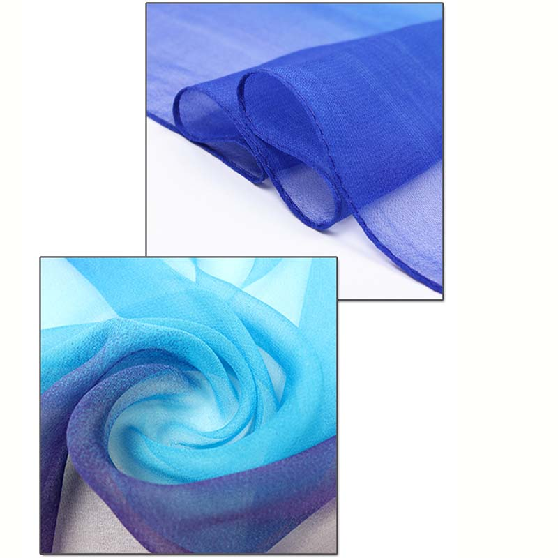 Factory Hot Selling ombre chiffon pashmina georgette scarf for women