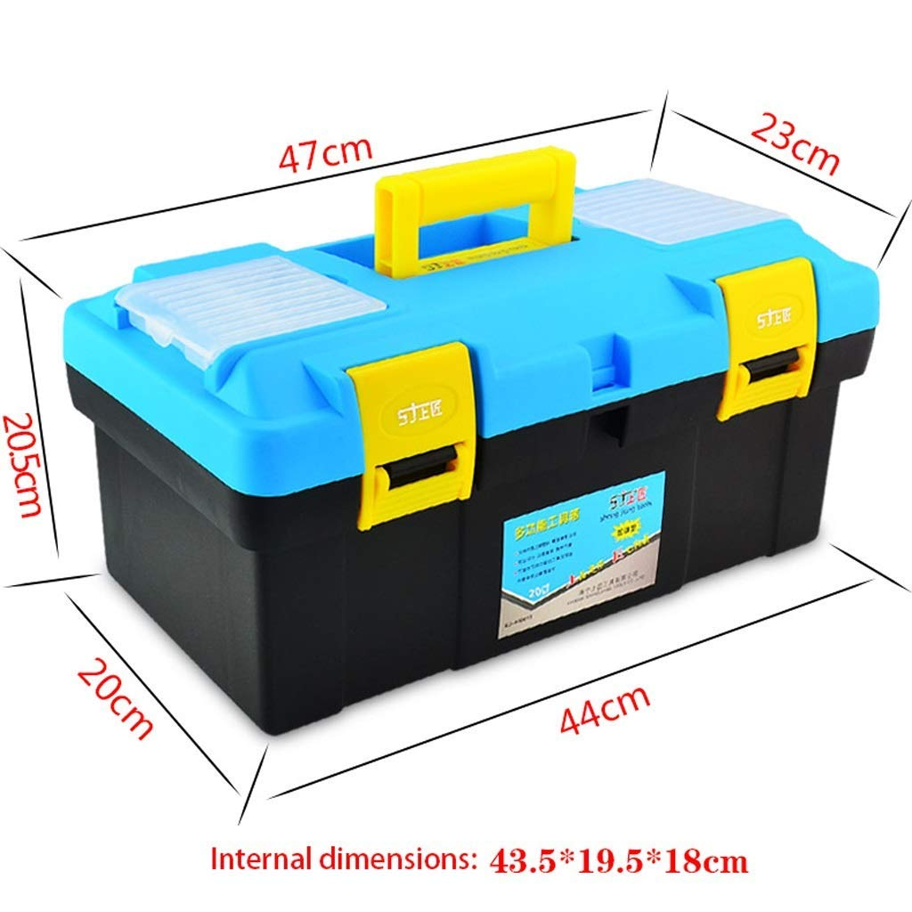 "Plastic Toolbox | Portable Toolbox Storage 15"" 18"" 20"" 22"" - Multi-Function Home Hardware Repair Tool Box,1PCS (Size : 472320.5cm)"