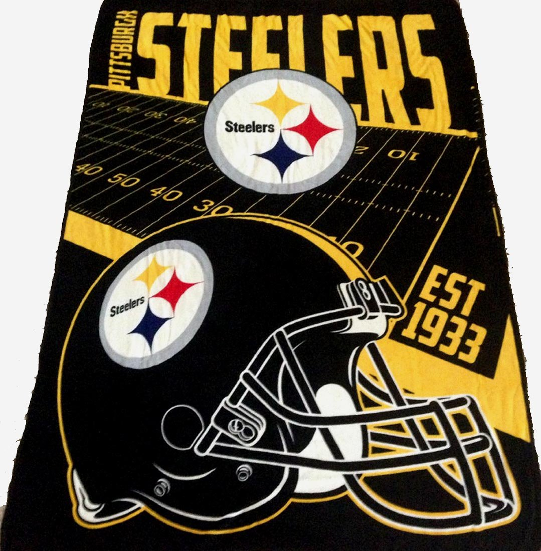 5f77873e8 Pittsburgh Steelers blanket bedding 62x90 XXL NFL Steelers throw lightweight