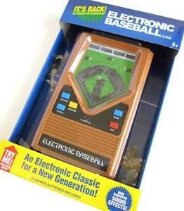 ELECTRONIC BASEBALL classic1970's handheld pocket travel portable video game