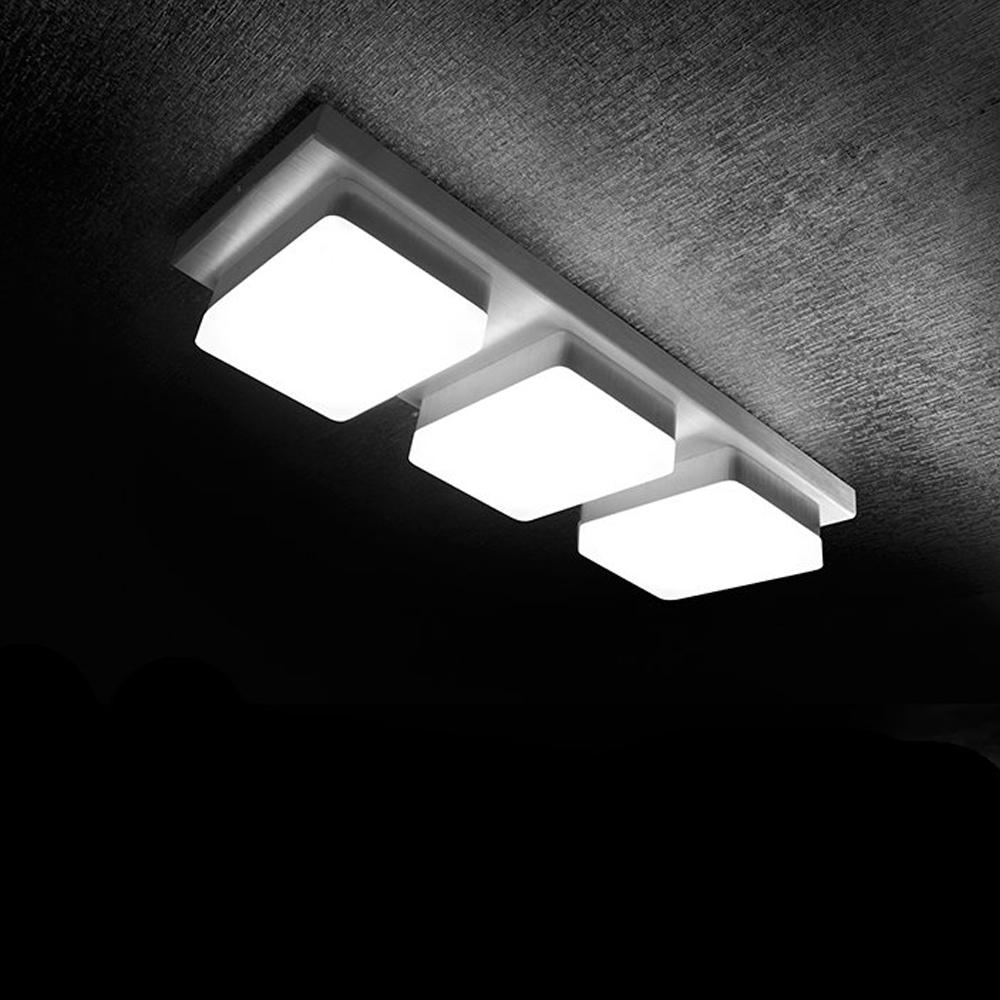 Adjustable Cuboid Three Light Led Light Fixture Of Ceiling