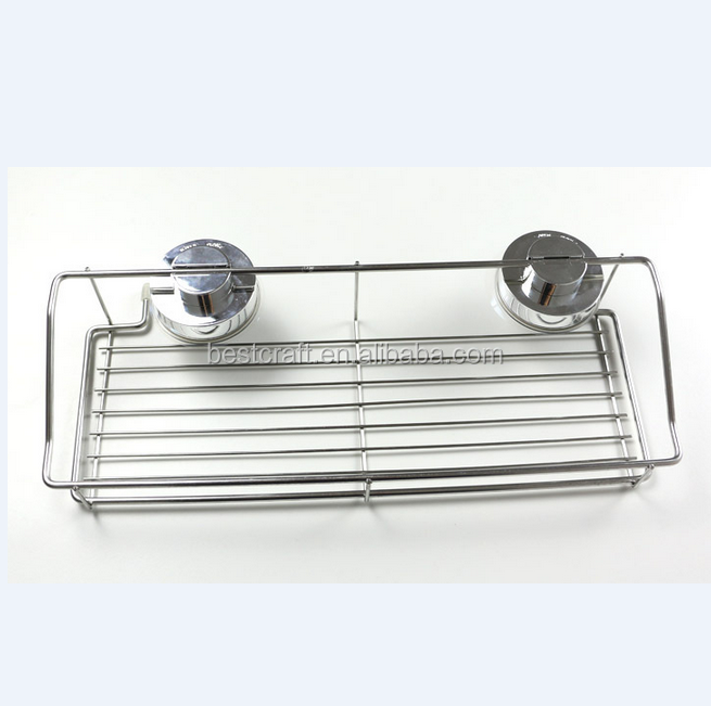 Suction Stainless Steel Bathroom Rack