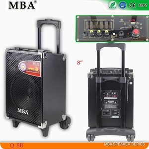 12V 4.5AH Lead Rechargeable Battery DC Powered MDF Wood Box Trolley Speaker
