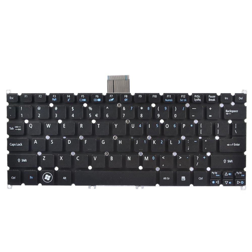 Eathtek New Laptop Keyboard without Frame for Acer Aspire One 725 756 AO725 AO756 Acer Aspire V5-121 V5-123 V5-131 V5-171 Acer TravelMate B113-E B113-M Black US Layout, compatible with part numbers NK.I1017.01S NK.I101S.02M KB.I100A.207 NK.I101S.01Q ZHA AEZHAR00010 AEZHGR00010 9Z.N7WSQ.11D