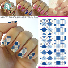 K5617 Water Transfer Foils Nail Art Sticker Colored Love Heart Design Manicure Wraps Decor Decals Minx
