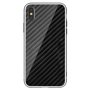 Luxury Carbon Fiber Cover Cases For iPhone X