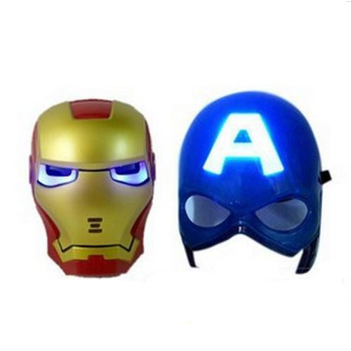 Get Quotations LED Light Masks Superhero Captain America Iron Man Mask For Adults Kids Party Halloween Birthday