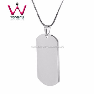 87f6ba1cf1284 Stainless Steel Dog Tag custom engraving Engrave Pendant custom word charms