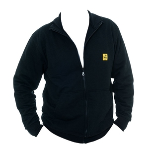 Popular winter Esd Fleece work jacket for cleanroom uniform