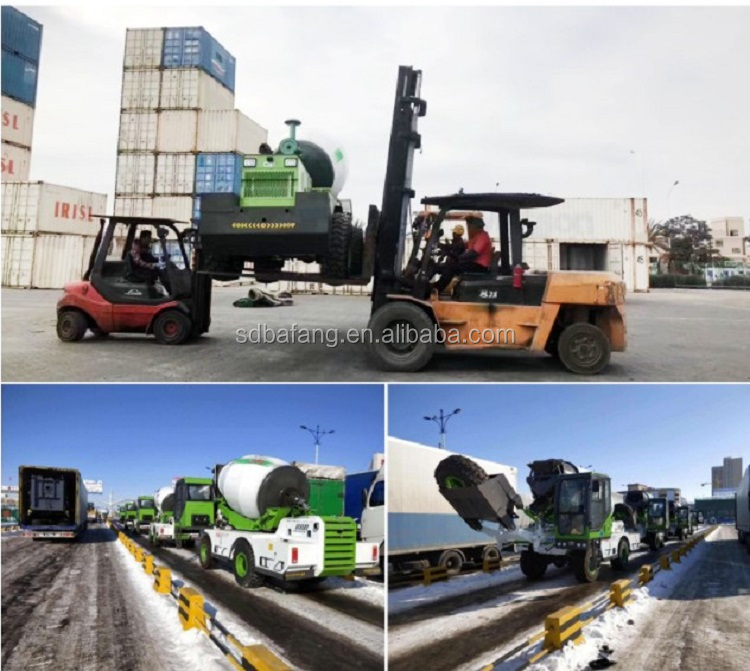 Hydraulic Pump Concrete Self feeding Mixer with truck