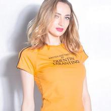 Body Tarantino Sexy Bodysuits 2018 Summer Women O-Neck Bodycon Skinny  Jumpsuits Romper Button Yellow 5e03cd9e2