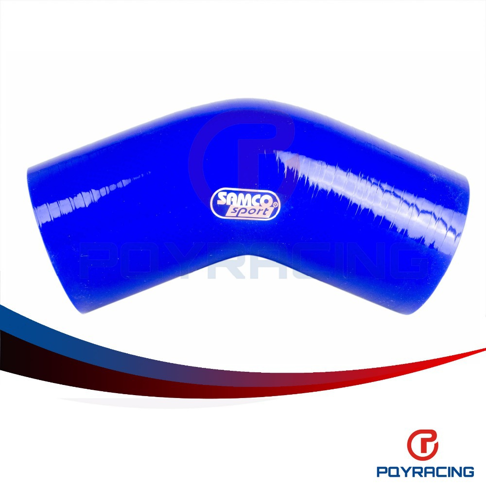 2-3//8  2-5//9 ID Blue 4 Leg Length on each side 55 PSI Maximum Pressure HPS HTSER90-238-256-BLUE Silicone High Temperature 4-ply Reinforced 90 degree Elbow Reducer Coupler Hose