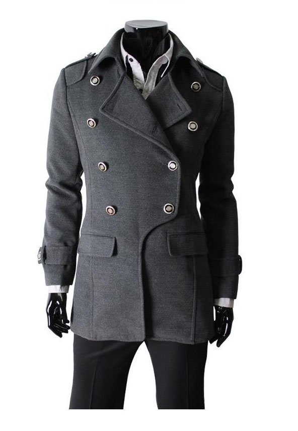 Popular Mens Trench Coats Classic Double-breasted Mens Trench Coat Thickening of the mens coats