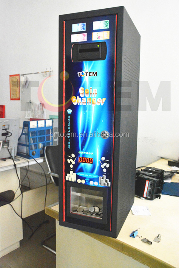 Best price hot sale totem hight quality foreign coin exchange machine