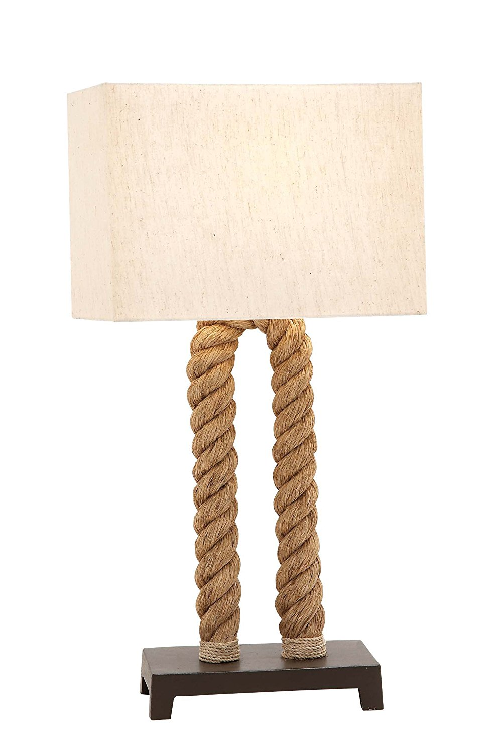 Plutus Brands The Extraordinary Metal Rope Pier Table Lamp