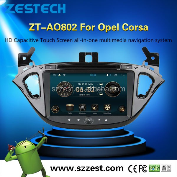 "8"" Quad Core Android 5.1 OS Special Car DVD for Opel Corsa 2014-2016 with 1024*600 Resolution"