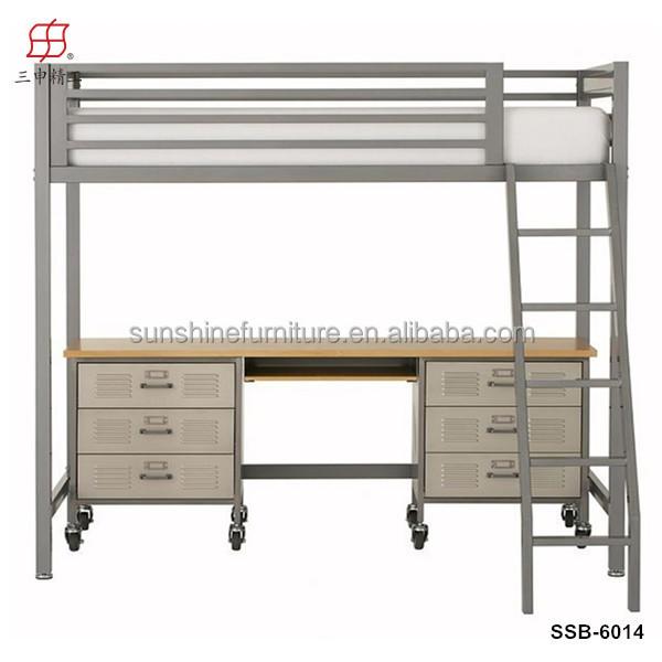 Neu Billige Hochwertige Moderne Schreibtisch Bett Kombination, Etagenbett  Mit Einem Schreibtisch, Hochbett Mit Computertisch