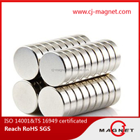 TS16949 certificates disc neodymoum magnet with customed porduced in China factory