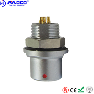 Hot sale multipin circular push pull panel mount metal socket connector receptacle