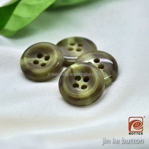 Chinese Stock Button 4 Holes Yellow Rod Horn Color Resin Polyester Coat Button Has Many Sizes, For Shirt, Coat ,Garment