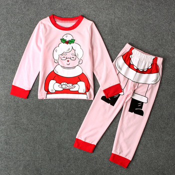 christmas pajama sets newborn toddler kids baby girls outfits clothes t shirt topspants