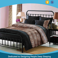 100% Polyester 3D satin solid and Tiger UK printed bedding set for 6 pcs