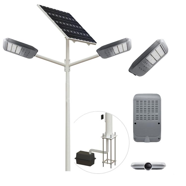 60w solar led street light double arm for Africa solar energy