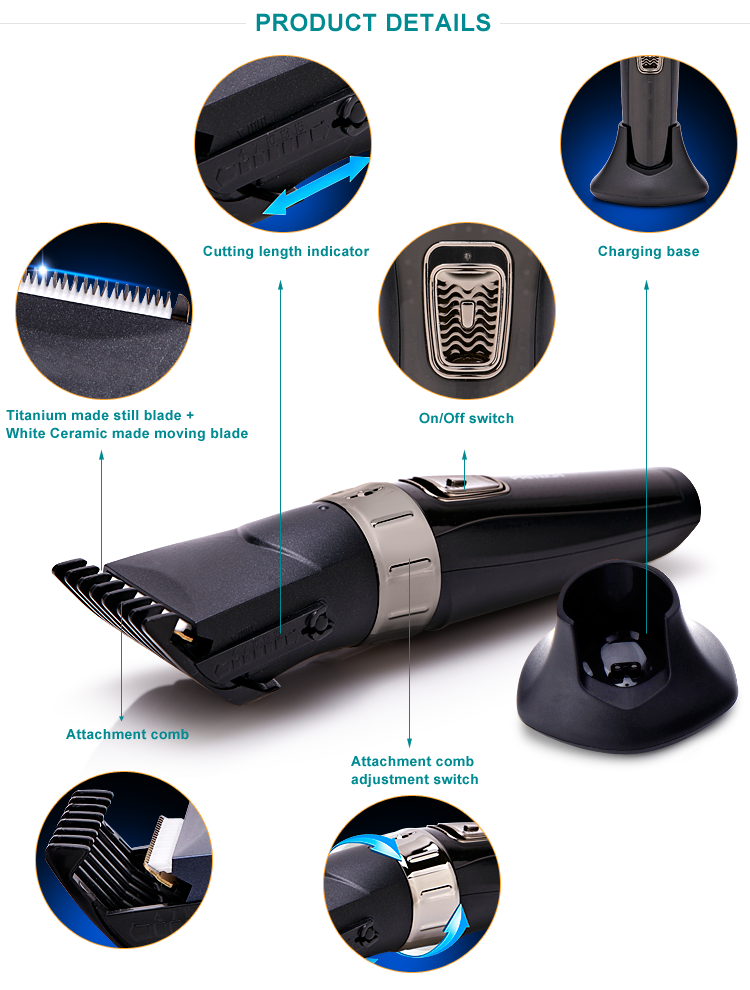 PRITECH Blade Water Wash Small Electric Men'S Hair Clipper & Trimmer