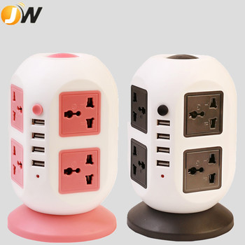 new design usb euro universal vertical power extension socket with surge protector