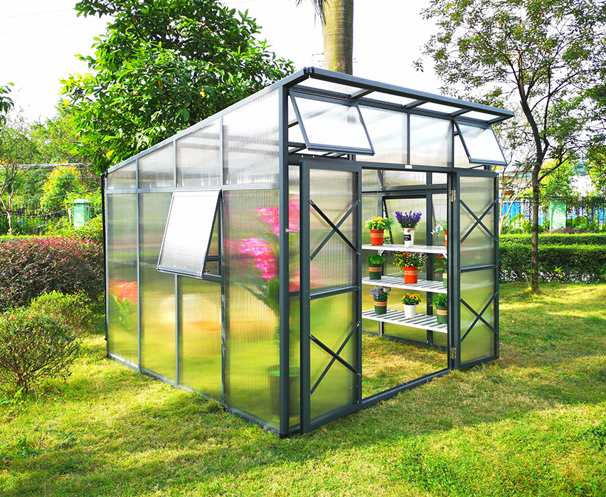 G-MORE Top Quality Aluminum Framed Winter Garden Greenhouse / 1M Wide & 10MM Polycarbonate