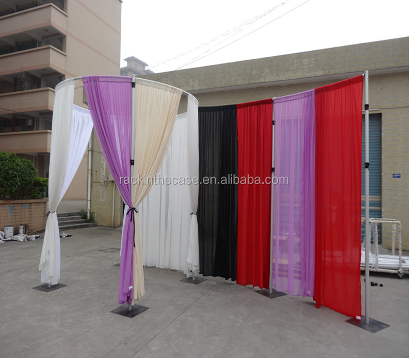 cheap garland backdrop drapes decorated bridalpulse and f with drape gorgeous pipe wedding backdrops