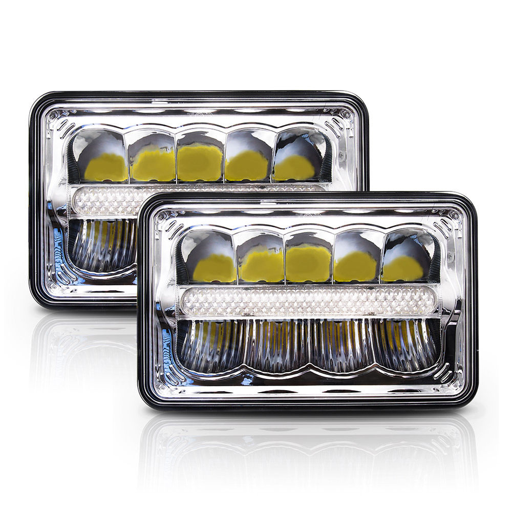 "7x6 LED Headlights HID Light Bulbs Crystal Clear Sealed Beam Headlamp w/DRL 7""x6"" / 5x7"