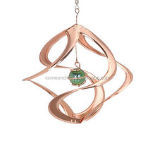 Copper Double Wind Spinner for garden ornaments