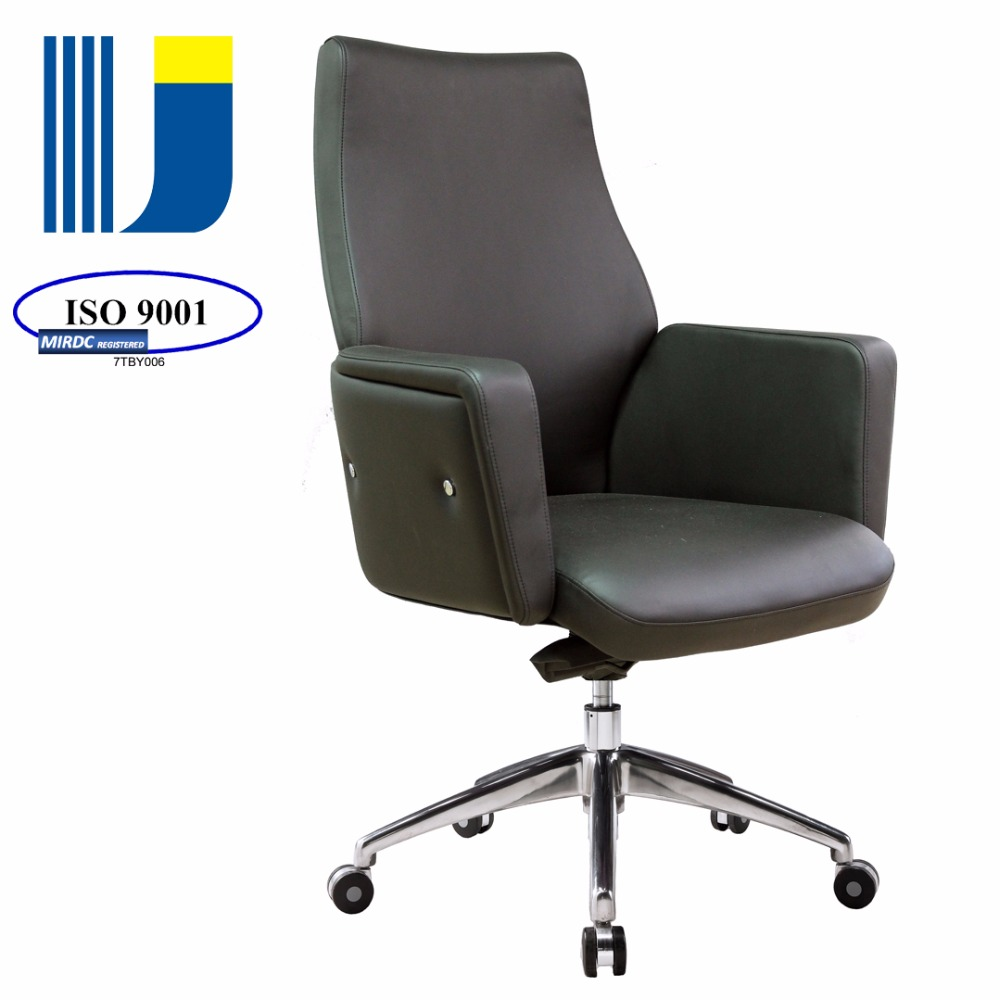 Executive Office Furniture Middle Back Luxury Chair Upholstery Leather Tilt Mechanism 1603bkg