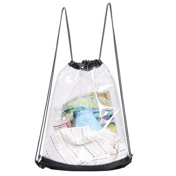 Clear Cinch Bag Event Stadium Sized Cinchpack Travel Transpa Shoe Backpack Cord Pvc Drawstring