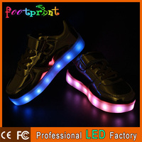 New fashion colorful change led light casual shoes for children