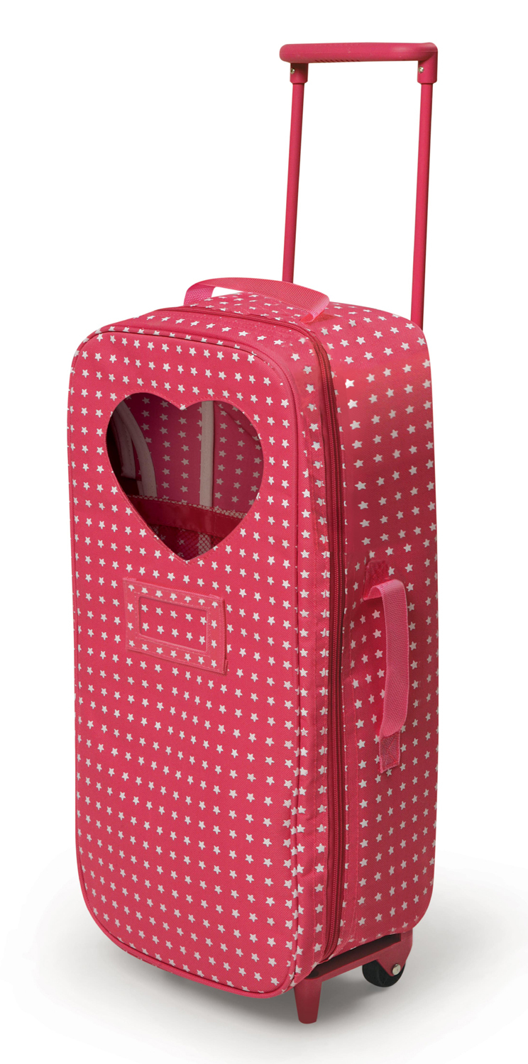 18 Inch Doll Bed Travel Carrier Trolley With Foldable Bed