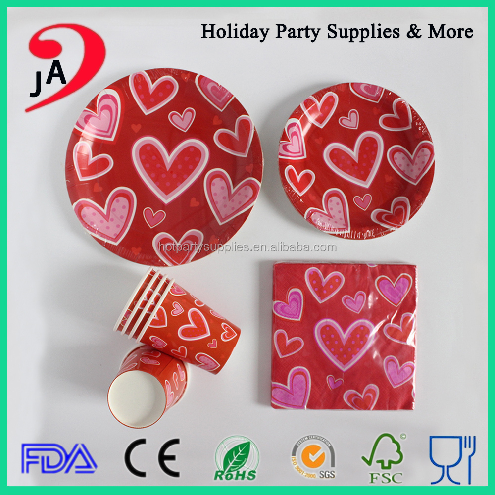 Party Supplies Tableware set Paper Products Paper cup and <strong>Plate</strong> with Napkin