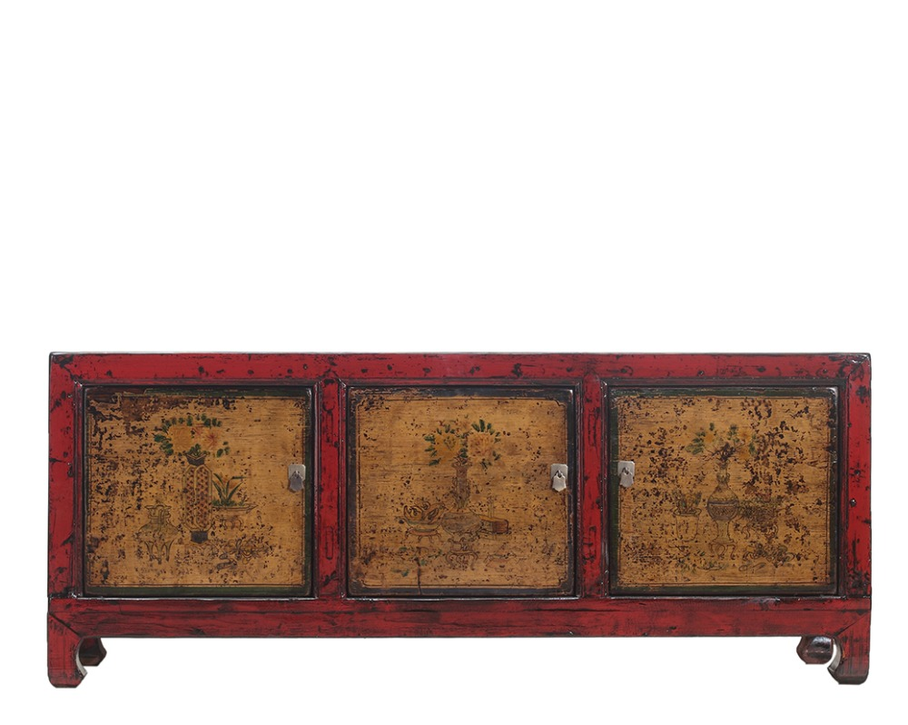 Chinese Antique hand painted floral decorative sideboard